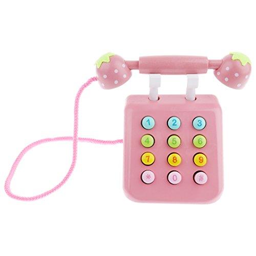 Sharplace Telefon Spielzeug für Kinder Mädchen Junge Rollenspiele Spielzeug für die Küche - Pink