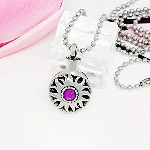 Titanium staal ronde diamant as halsketting, liefde kat en hond as haarhanger, huisdier etherische olie halsketting