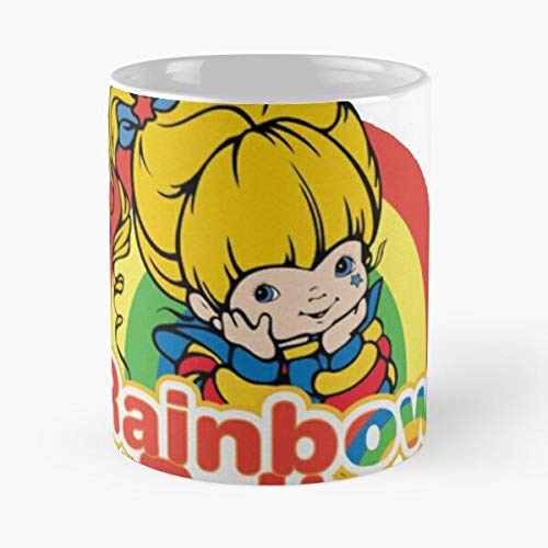Rainbow Brite – Taza de café de cerámica blanca