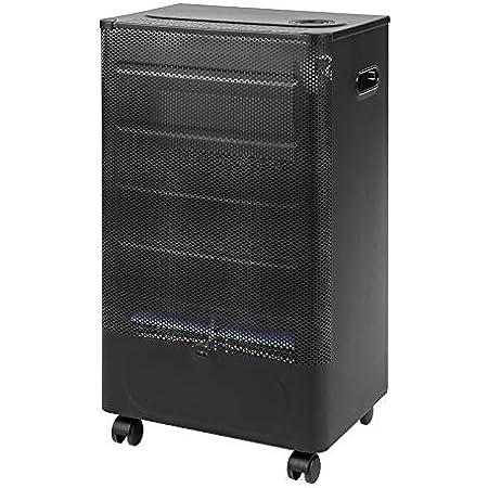 Favex - Chauffage d'appoint à gaz Praha Blue Flame - Intérieur - Brûleur Inox Infrableu - 3 Puissances de chauffe -jusqu'à 35 m² - Noir
