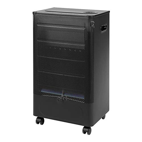 FAVEX 8591600Praha Blue Flame Calefactor de de Gas Llama Negro/Azul 40x 29x 70cm