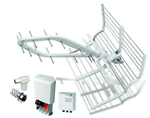 Kit Antena FAGOR Rhombus LTE 5G + Amplificador 35dB + Fuente alimentación 2 Salidas