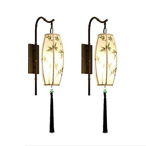 NARUJUBU Lámpara de Pared Nuevo Chino, Tsinghua Porcelana China del Viento Creativo LED de la lámpara Headwall for el Dormitorio, Cuarto de baño, Comedor, Sala de Estar, Pasillo, Pasillo, Escalera