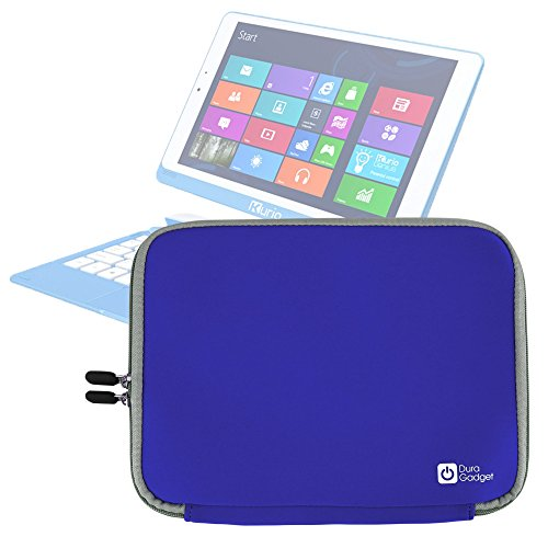 DURAGADGET Funda Azul De Neopreno para Tablet SPC Glow 10 - Resistente Al Agua - con Cierre De Cremallera