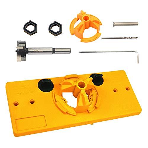 Scharnierloch 35MM Scharnierbohrvorrichtung Forstner Bohrer Set für Holzbearbeitungswerkzeuge für die Installation von Schranktüren