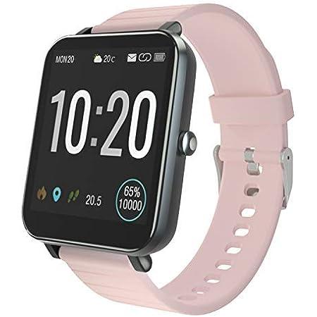 YIRSUR SmartWatch, Reloj Inteligente IP68 con Pantalla Táctil de 1.54, Cronómetros,Calorías, Monitor de Sueño, Podómetro Cronómetros para iOS ...