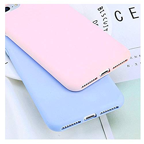 Mixneer Simple Candy Color Plain Phone Case for iPhone 6/6S Soft TPU Silicon Full Back Cover for iPhone 6/6S Case - Purple Blue