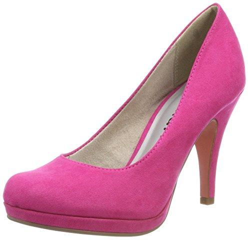 Tamaris Damen 22407 Plateaupumps, pink, 36 EU