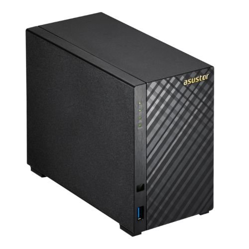 Asustor AS3202T 2-Bay NAS System (Intel Celeron 1,6 GHz Quad-Core Prozessor (Braswell), 2GB RAM, 1x Gigabit-LAN, HDMI 1.4b für 4K Playback, Raid)