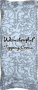 Wonderful Topping Crema, 10 x 750g = 7,50 Kg