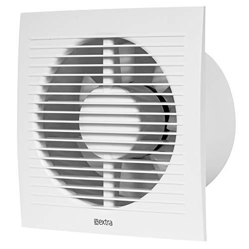 Ø 150mm Bad-Lüfter mit Feuchtesensor und Timer - Weiß, Leise Ventilator