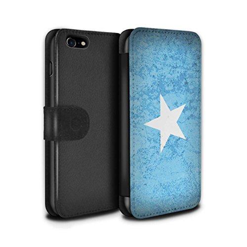 Telefoonhoesje Portemonnee voor Apple iPhone SE 2020 Afrikaanse vlag Somalië/Somali Ontwerp Flip Faux PU Lederen Cover Magnetische Sluiting Card Slots