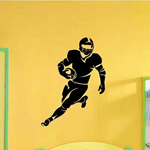 Rugby-Spieler-Laufmuster Spezielle Wandtattoos Startseite Wohnzimmer Cooles Hübsches Dekor Vinyl-Wandbild Mann Rugby-Tapete 42X60Cm