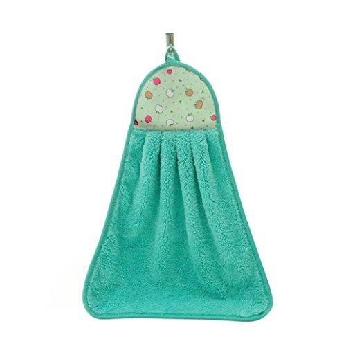 Serviette de toilette pour salle de bains, Tissu en peluche, Green, Taille unique