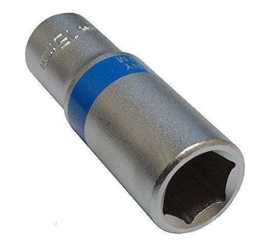Aerzetix: Steckschlüssel Einsatz Nuss 6 kant 3/8 15mm tief lange professionelle hochwertige erweitert Stahl CrV