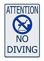 注意しないダイビングアルミメタルサイン警告駐車場サインインチ