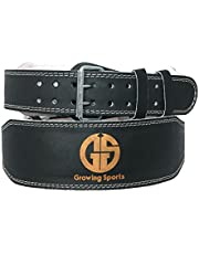 GS Growing Sports Weight Lifting Leather Belt Training belt Gym Belt 4-inch GS-120
