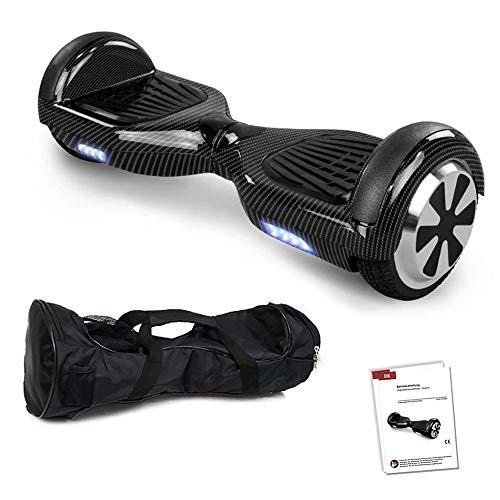 Hoverboard GPX-01-6,5 Zoll Motion V.5 mit App, inkl. Tragetasche, Dual Motor, Bluetooth 4.0, Lautsprecher, Kinder Sicherheitsmodus, Self Elektro Balance Scooter, 600 Watt (Carbon)