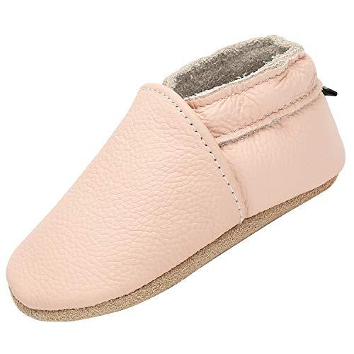Yavero Baby Lauflernschuhe Jungen Mädchen Weicher Krabbelschuhe Kleinkind Baby-Hausschuhe Rutschfesten Bequeme Slippers, Pink 30 6-12 Monate