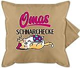 Oma Kissen - Omas Schnarchecke - schwarz/Fuchsia - Unisize - Beige - Kissen für oma - GURLI...