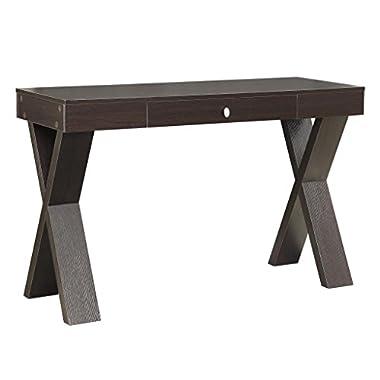 Convenience Concepts Modern Newport Desk with Drawer, Espresso