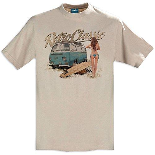 RetroClassic Herren T-Shirt mit Küken im Retro-Stil Gr. XL, sand
