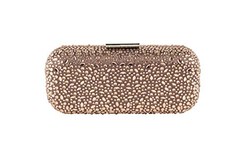 Anna Cecere Bronze Diamonds Encrusted Hardshell Clutch