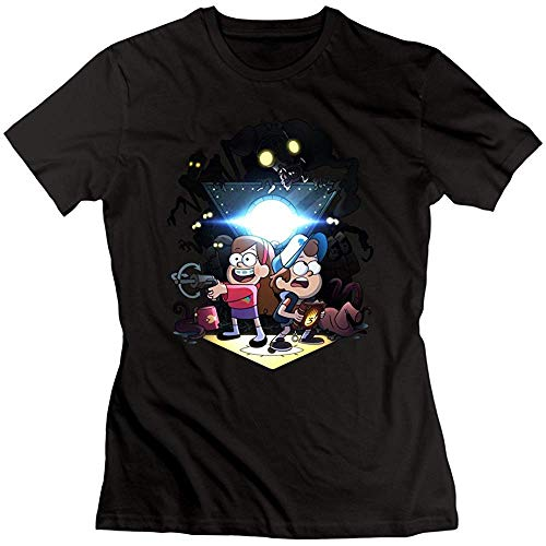 DAE hkvbukhnkgf Women's Gravity Falls Season 2 T Shirt Black