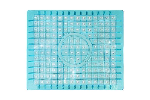 "Grace Home Kitchen Sink Protector Mat - Regular Clear 12"" x 10"" (Blue)"