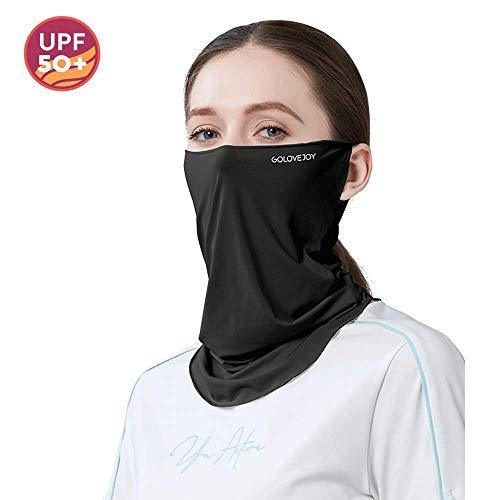 Sturmhaube Gesichtsmaske Neck Gaiter Balaclava Sommer Bandana Gesichtsmaske Unisex Neck Scarf Mask Motorrad für Männer Frauen (Schwarz-2)