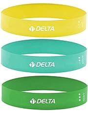 Delta 3'lü Aerobik Bandı Latex Bant Set Unisex, Çok Renkli, Tek Beden