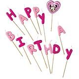 Disney Minnie Mouse Bougies Happy Birthday Lot de 14pièces