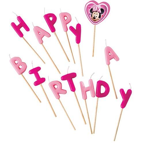 Disney Minnie Maus Kerzen Happy Birthday von 14Stück