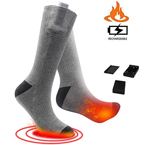 Auplew Electric Heated Socks, Heated Socks Winter Foot Warmer Sports Socks Thermal Socks for Winter, Outdoor Activities, Skiing, Hiking, Mountaineering