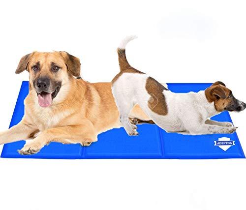 Adeptna Selbstkühlendes Gel-Haustierbett, für Hunde und Katzen, zur Wärmeentlastung, ungiftige Kühlungstechnologie, um Ihrem Haustier bei Sommerhitze abzukühlen