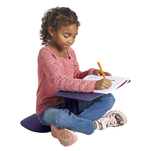 ECR4Kids - ELR-15810-EP The Surf Portable Lap Desk, Flexible Seating for Homeschool and Classrooms, One-Piece Writing Table for Kids, Teens and Adults, GREENGUARD [Gold] Certified, Eggplant