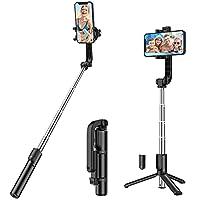 【Passt die Selfie stange meinem Handy?】 Kompatibel mit 3,5-6 Zoll Smartphones, wie iPhone 11/11 Pro/11 Pro Max/XS MAX, XR, XS/X/8/8Plus/7/7 Plus, iPhone 6/6 Plus, etc.; Samsung Galaxy S10/S10+/S9/S9+/S8/S7 edge/S7/S6/S5/S4/S6 Edge/S6 Edge Plus/Note 8...