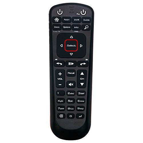 New Network 52.0 Replacement Remote Control Compatible with Dish Network with 3 Modes SAT TV AUX
