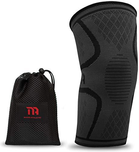 MAVE ATHLETIC Kniebandage | Die Innovative Kompressions-Bandage für Sportler | Weniger Schmerzen Dank besserer Durchblutung (Einzeln, S)