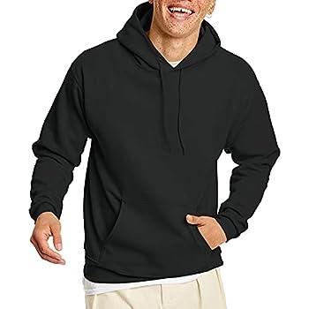 Hanes Men s Pullover EcoSmart Hooded Sweatshirt Black Medium