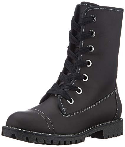 Roxy Damen Vance - Lace-up Leather Boots for Women Schlupfstiefel, Schwarz, 41 EU