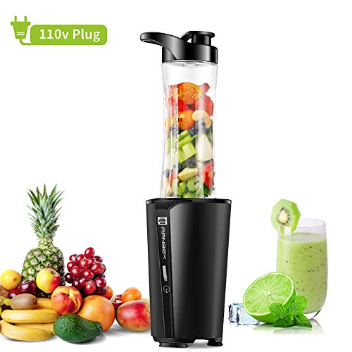 Bullet Blender, Small Smoothies Maker & Single Serve Personal Blender for Protein Shakes, Milkshakes, Vegetables and Fruits Juice Mixer, with 20 oz Portable Travel Bottle, BPA Free, 300W