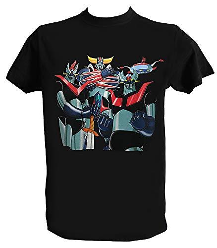 T Shirt Goldrake Mazinga Z Great Mazinger Anime Manga Anni 80 Maglietta Robot Uomo Bambino, Uomo - XL