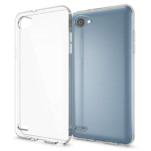 NALIA Carcasa Compatible con LG Q6 Funda, Delgado Silicona Protectora Resistente Telefono Movil Proteccion Gel Bumper, Flexible Crystal Clear Claro Estuche Cubierta TPU Case Cover - Transparente