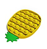 APORAKE Pop Fidget Toy,Push Pop Bubble Fidget Sensory Toys Stress Relief Gifts for Kids and Adults - Figit Toys Special Needs Stress Reliever Squeeze Sensory Toy (Pineapple-Yellow)