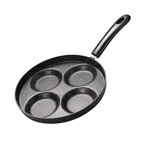 SPNEC Cocina de inducción for freír Especial Huevo Pan de Cuatro Rejillas del Huevo escalfado Huevo de Masa hervida del Molde del hogar Maifan Piedra Antiadherente Desayuno