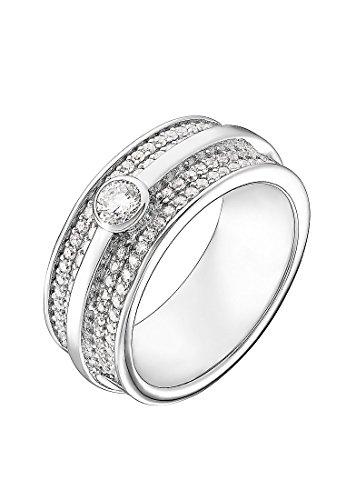 JETTE Silver Damen-Damenring Silber 97 Zirkonia 55 Silber 32004955