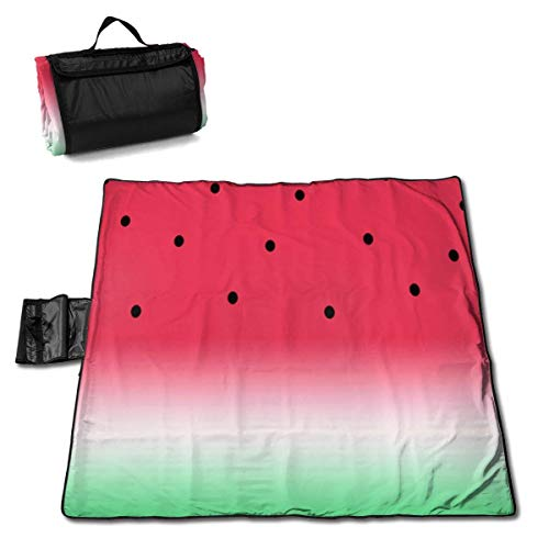 Singledog Picknickdecke Lustige Wassermelonenfrucht Melone Strandmatte Tote Pad Handmatte 145X150CM
