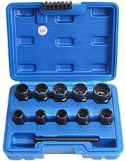 CCLIFE Juego de 13 llaves de vaso especiales de 3/8 pulgadas (8-19 mm)