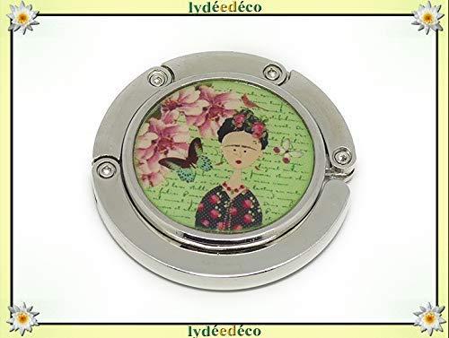 Handtaschenhalter Harz Frida Kahlo Schmetterling grün rosa Metall personalisierte Geschenke...